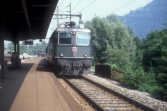 CS23B 23 CFF Re 44 II 11202 verte Weesen 07-07-1991 DMS CS23B 23